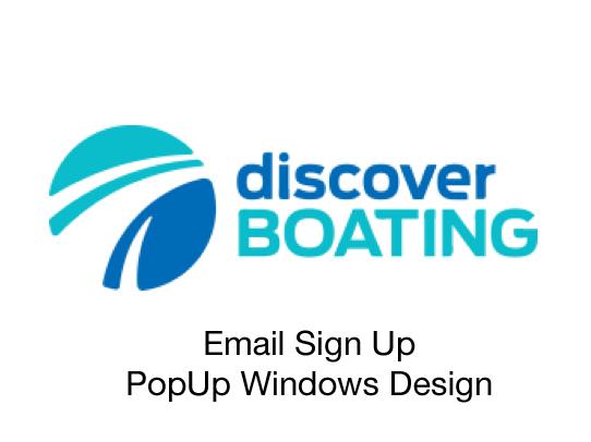 Discover Boating Online Marketing PopUps Design