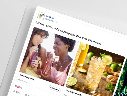 Food and Beverage Online Marketing campaign