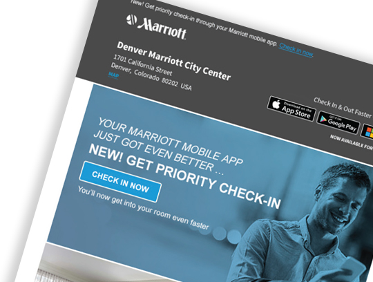 Marriott Hotels Email Template Re-Design