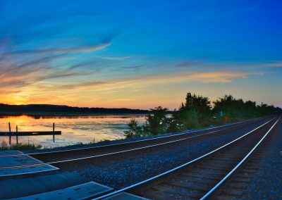 sunset-by-traintracks